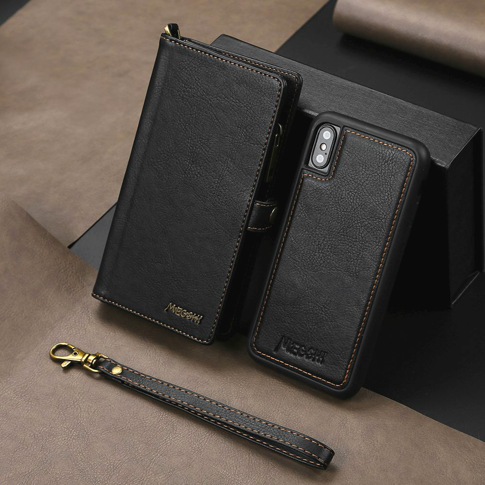 Business Wallet Multifunction Magnetic Case For iPhone 11 Pro Zip Bumper Xr Xs Max X 8 Plus 7 Flip Leather Cover Phone Coque