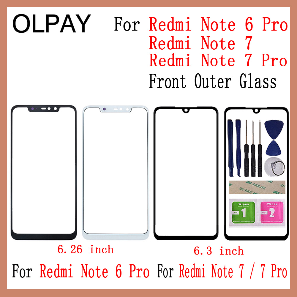 For Xiaomi Redmi Note 6 Pro Redmi Note7 Note 7 Pro Front Outer Glass Replacement Not Touch Screen LCD Display