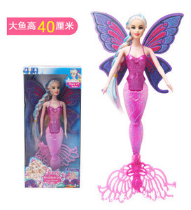 Image 2 - 2020 New Fashion Swimming Mermaid Doll Girls Magic Classic Mermaid Doll With Butterfly Wing Toy For Girls Birthday Gifts