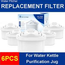 Water Filter For Water Pitcher 6Pcs/Lot Household Purify Kettle Direct Drinking Water Filter Activated Carbon Replacement