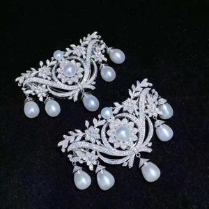 Вау! Циркониевый и пресноводный жемчуг, белая монета, уникальная форма, брошь, природа, оптовая продажа, FPPJ для xms в подарок
