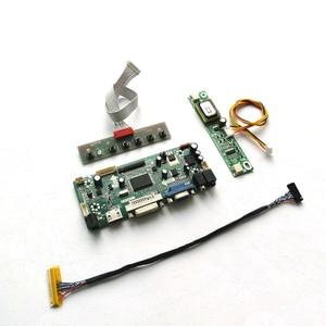 "Image 1 - For HT185WX1 100/500/501 M.NT68676 display controller drive card CCFL LVDS 30Pin 18.5"" 1366*768 LCD panel HDMI+VGA+DVI DIY kit"