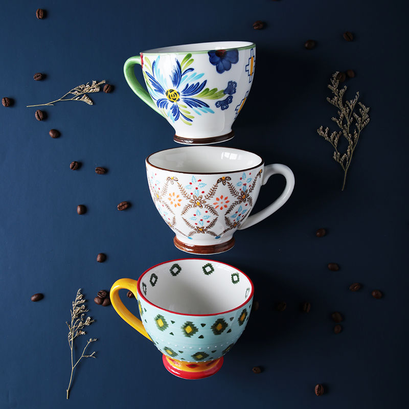 coffee mugs tazze colazione milk cup hand-painted ceramic  breakfast  cup creative drinkware tea cup Home Office Drinkware Gift