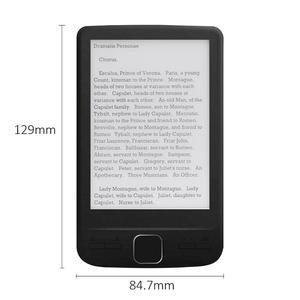 Image 2 - Dispositivo eletrônico da leitura do livro do papel de ereader do armazenamento 4.3x800 com luz dianteira capa do plutônio do leitor 4g/8g/16g de ebook de 600 polegadas