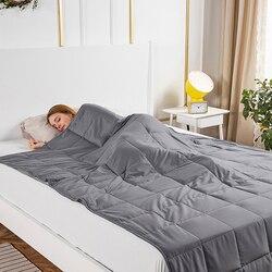 بطانية مرجح للتوحد القلق بطانية مرجح للكبار الجاذبية البطانيات الضغط النوم المرجحة لحاف المعونة الضغط