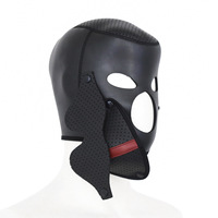 Hood Mask BDSM Bondage Toy Bondage Restraint Open Eye Fetish Mask Hood Cosplay Sex Toys For Couples Erotic Accessories