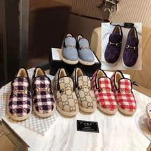 G Women's Shoes Mao Mao Shoes Horse Buckle Lok Fu Shoes Autumn and Winter Plus Cashmere Wool Fashion Comfortable Joker Logo