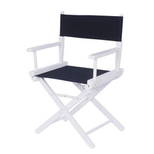 Contemporary Solid Beech Wood Frame Directors Chair Foldable Outdoor Furniture Portable Folding Makeup Wooden Chair for Artists