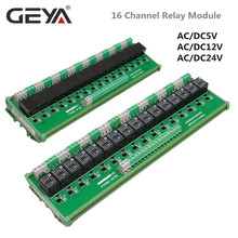 GEYA 16 Groups 1SPDT 1NC1NO Relay Module for AC DC 5V 12V 24V PLC Relay Board 12V 10A Electromagnetic Relay 12v 24v relay harness control cable for h4 hi lo hid bulbs wiring controller