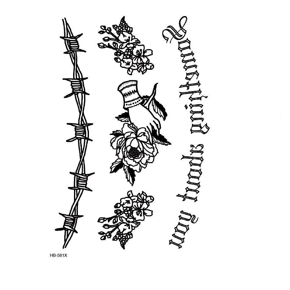 Something About You Waterproof Temporary Tattoo Sticker Flower Body Art Tatoo Sleeve Men Glitter Tattoos Men Tatuajes Temporales