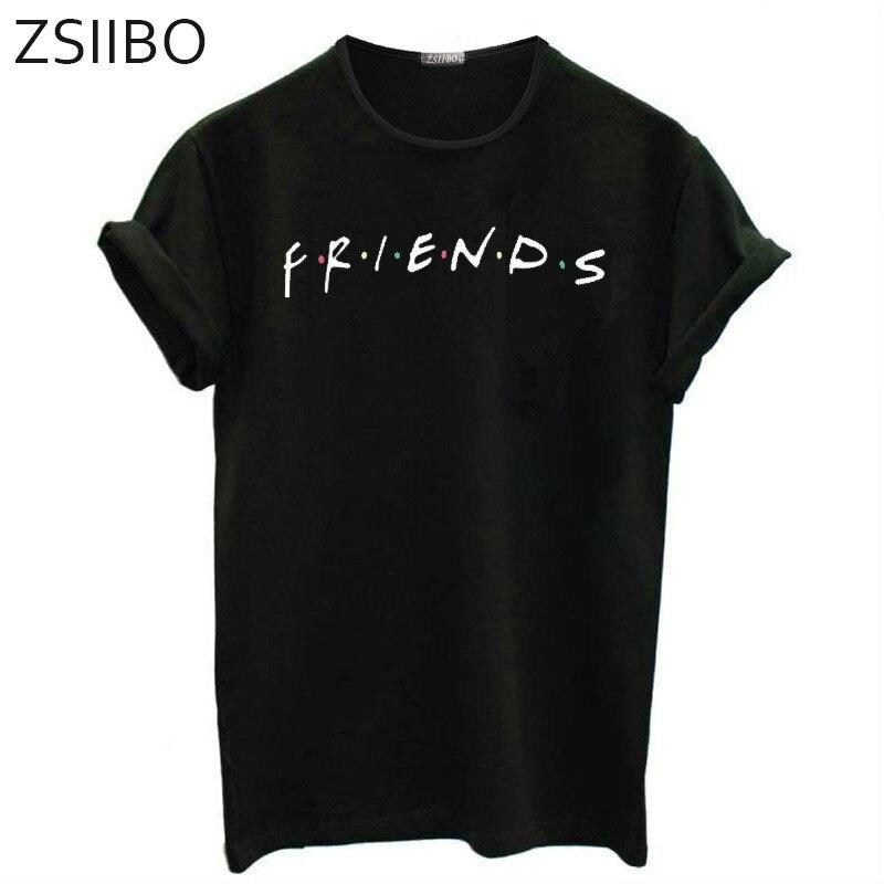 Tshirt Women Short-Sleeve Friends-Print Hot-Style Letter Black TX115 Ropa Mujer Europe