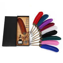 Exquisite European retro Harry Biter feather pen, teachers day to send must-have gifts,