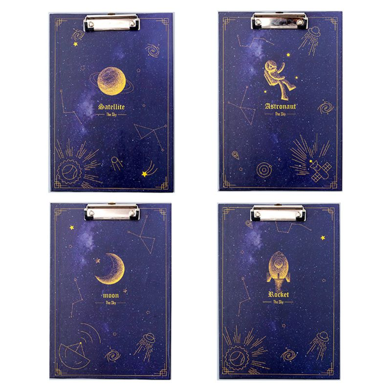 Creative Dream Starry Sky File Folder Clipboard A4 Writing Board School Supply Filing Products
