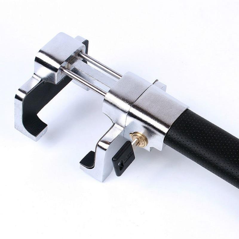 Car Steering Wheel Lock Universal Security Car Anti Theft Safety Alarm Lock Retractable Anti Theft ProtectionT-Locks