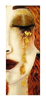 5 sztuk 10*25mm nowy pocałunek prostokątne gustav klimt obrazy ręcznie robione zdjęcie szkło styl kropla Cabochons biżuteria akcesoria
