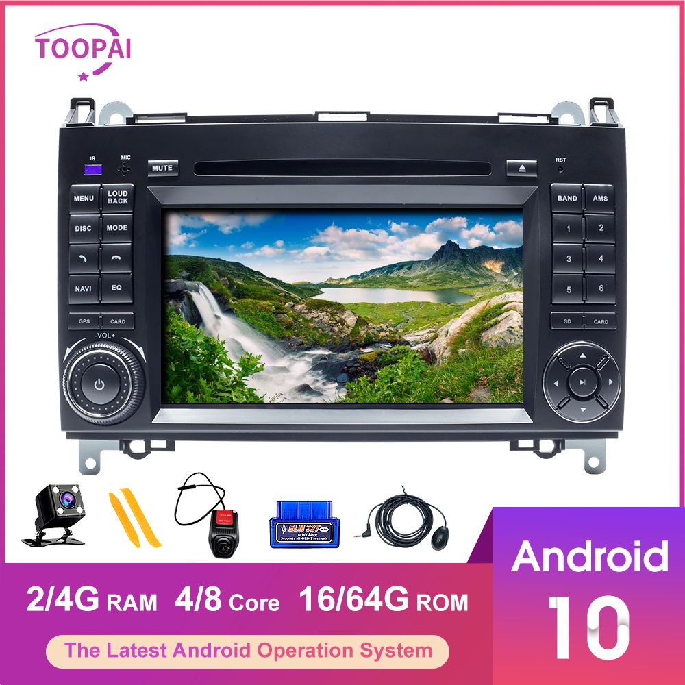 TOOPAI <font><b>Android</b></font> 10 For Mercedes Benz Vito B200 Volkswagen Crafter Sprinter Car Multimedia Player <font><b>GPS</b></font> Navigation Auto Radio Stereo image