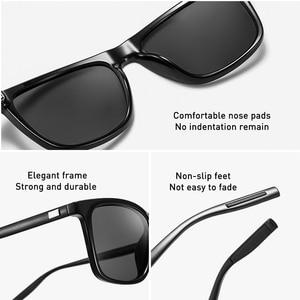 Image 5 - CAPONI Marke Unisex Retro Aluminium + TR90 Platz Photochrome Sonnenbrille Polarisierte Beschichtung Objektiv Vintage Sonnenbrille Für Männer BS387