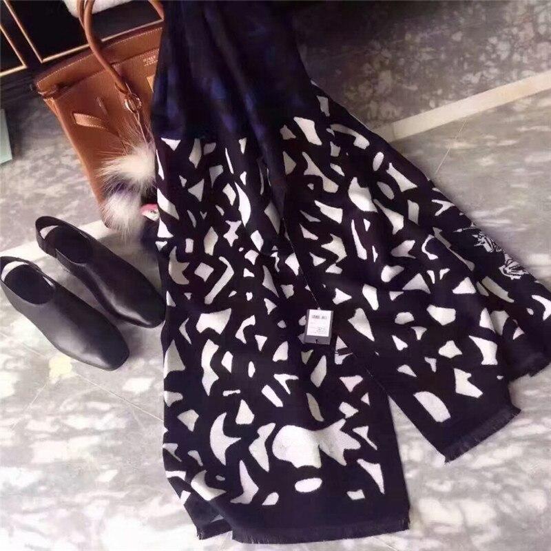 Image 3 - Klasyczny 2019 Winter Warm imitacja kaszmiru szalik/szal, moda koc szalik kobiety, szal pashmina, projektant luksusowy szalikSzaliki damskie   -