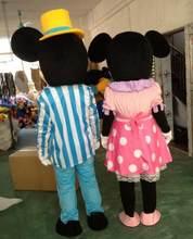 Qualidade superior eva helme mouse mascote traje andando dos desenhos animados vestuário fantasia vestido festa de aniversário