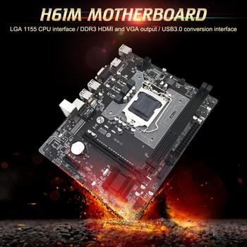 H61M Desktop Computer Motherboard 1155 Pin CPU Interface Integrated RTL8105E 100M NIC All Solid State Motherboard Home Office