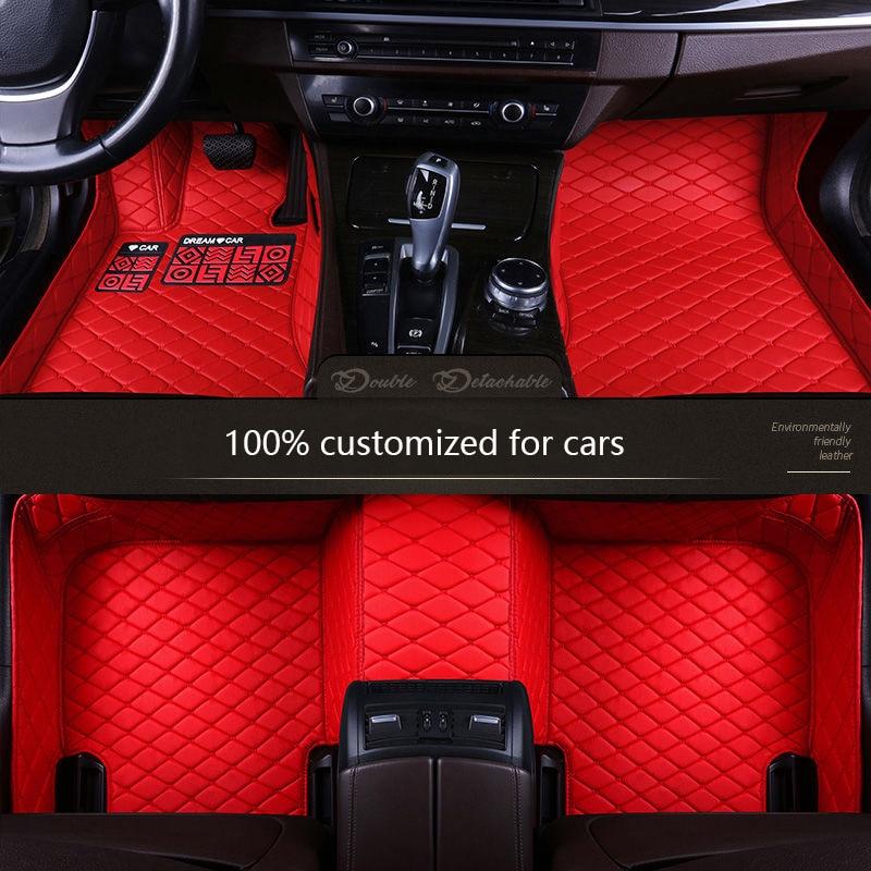 Personalizada de couro tapetes do assoalho do carro para BMW e30 e34 e36 e39 e46 e60 e90 f10 f30 x1 x3 x4 x5 x6 1/2/3/4/5/6/7 Não-slip tapetes tapetes