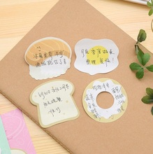 2pack/lot new arrival Creative food images note pads kawaii memo gift sticky notes office school supplies