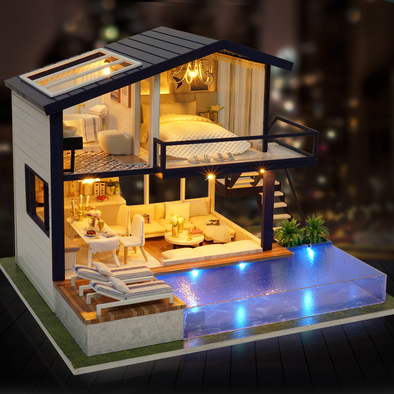 DIY Creative Assembled Apartment Hand-made Cabin House Time Model Send Cabin Made In China Have Gift Women's