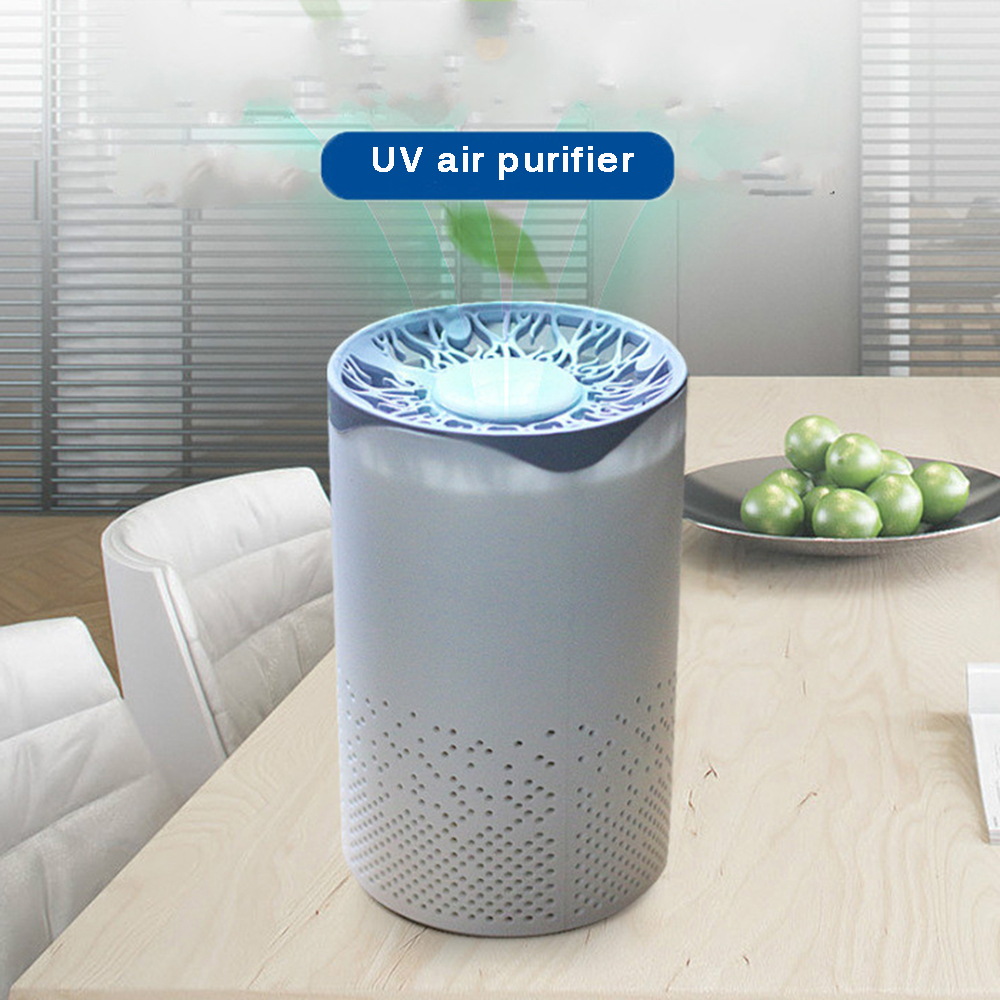 Uv Sanitizer Bactericidal Usb Air Purifier Hepa Particle Filter Sterilizer Portable Mite Uv Sterilization Ultraviolet Light