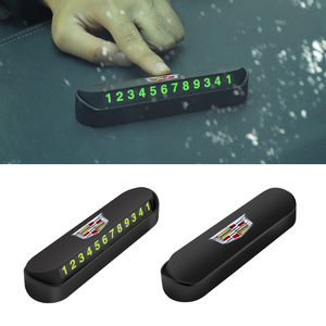 Image 1 - 1 adet araba geçici park kartı telefon numarası kart aksesuarları Cadillac SLS ATS SLR XLR Escalade CTS SRX BLS STS CT4 CT5 CT6