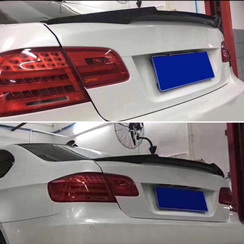 Use For BMW 3 Series E92 Spoiler 2006--2013 Year Coupe 2-door Real Carbon Fiber Rear Wing M4 Style Sport Accessories Body Kit image