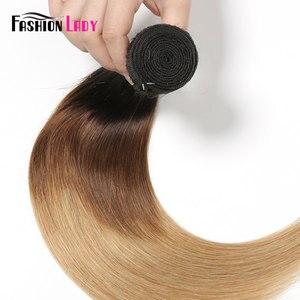 Image 5 - Extensiones de pelo ondulado brasileño precoloreado para mujer, mechones rectos de pelo humano ombré 1b/4/27, 1 unidad por paquete, no Remy