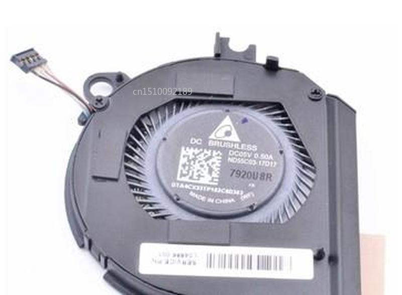 Original ND55C03-17D17 5V 0.50A For HP Spectre X360 Laptop CPU Cooling Fan Free Shipping