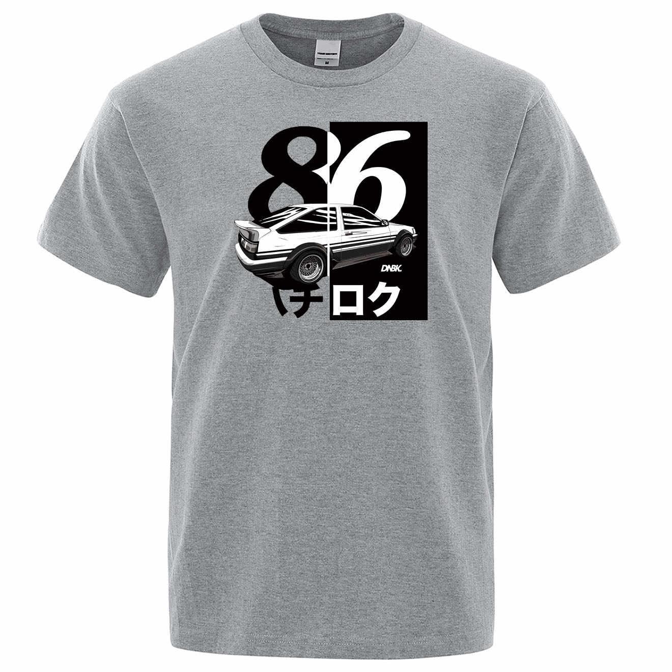AE86 Iniziale D Homme Maglietta Degli Uomini di Stampa Deriva T-Shirt di Modo Freddo T Shirt Anime Giapponese Manica Corta Cotone di Estate Casual magliette e camicette
