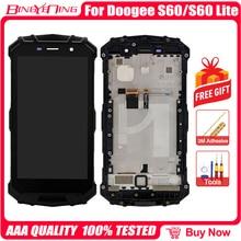 Bingyeng For DOOGEE S60/S60 Lite LCD & محول الأرقام بشاشة تعمل بلمس مع إطار شاشة عرض ملحقات الهاتف تجميع استبدال