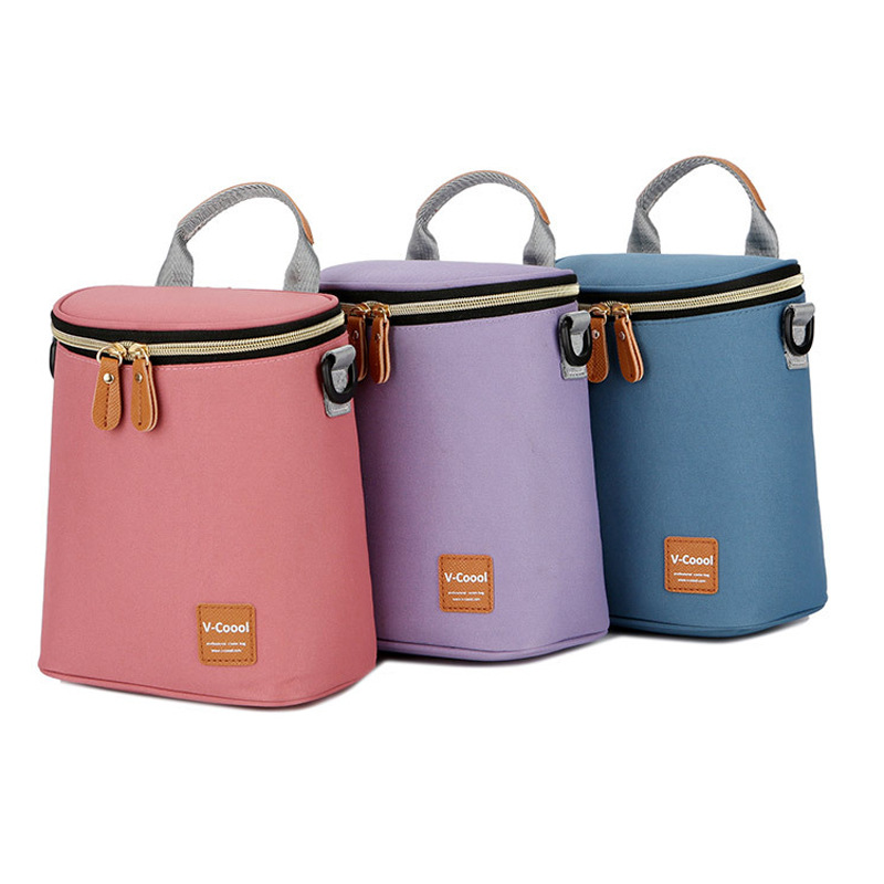 V-Coool Barrel Milk Insulated Bag Feeding Bottle Insulated Bag Breast Milk Fresh-keeping Bag Portable Diaper Bag Beverage Mini I