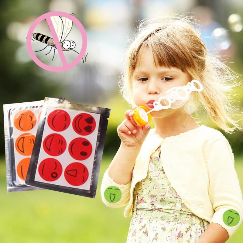 6 Pcs Anti Mosquito Stickers Mosquito Repellent Patch Smile Face Anti Mosquito Sticker Repeller Baby Mosquito Killer Trap Insect