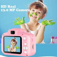 Мини цифровая камера игрушки для детей 2 дюймов HD экран аккумуляторная реквизит для фотосъемки милый ребенок подарок на день рождения уличн...