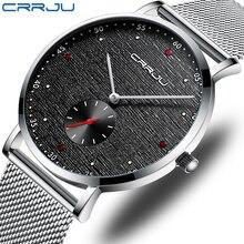 Crrju秋の新マット品質メンズ腕時計、ビジネス旅行不可欠腕時計、メンズ防水と耐久性のある