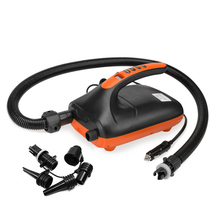 Electric-Pump Portable with 6PCS Nozzles Fully-Support Inflation And 20PSI Double-Stage