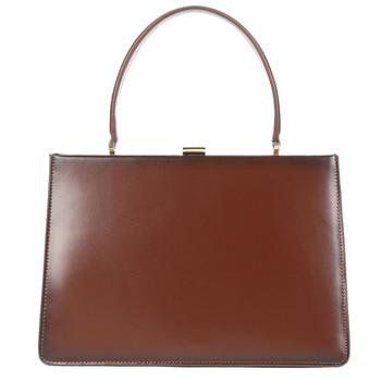 Vintage Genuine Leather Handbags Women Organ Bag Big Capacity Fashion Sqaure Briefcase French Ladies Cowhide Totes Clasp Pack