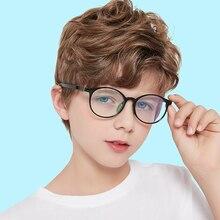 Kids Glasses Anti-Blue-Light Prescription Eyewear Computer Sight Myopia Retro Children