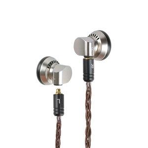 Image 2 - Yincrow RW 1000 3.5mm Flagship Earbud HIFI Metal CNC Earphone 15mm  Dynamic BK MX980 PK2 EBX ST 10 RW1000 Detachable MMCX Cable