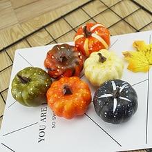 6 шт. Хэллоуин Тыква поддельные овощи моделирование Хэллоуин искусственная Тыква DIY ремесло для домашней вечеринки на день рождения Свадебные украшения