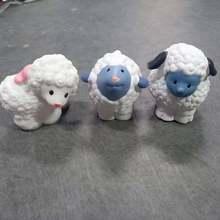 3 pçs pouco bonito mini pessoas ovelhas figura bonecas dos desenhos animados zoo animal figura brinquedos crianças crianças presente de natal