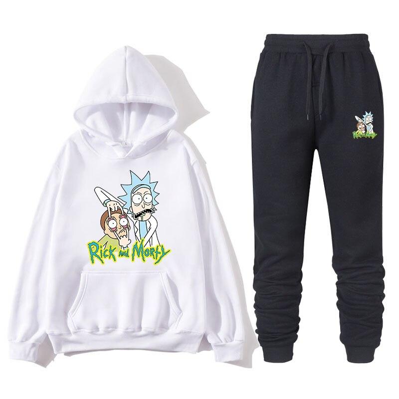 2019 модная мужская спортивная одежда из двух предметов, новая брендовая осенняя и зимняя толстовка с капюшоном + спортивные штаны, мужские те