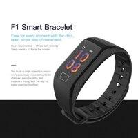 F1 Plus banda inteligente presión arterial impermeable Color pantalla deportes pulsera inteligente ritmo cardíaco Monitor pulseras