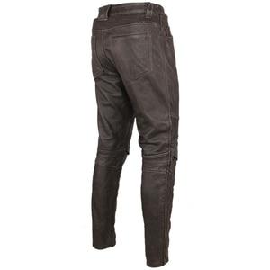 Image 2 - Pantalón de cuero negro Vintage para hombre, pantalón grueso para motorista, 100% Piel de vaca Natural, pantalones estilo motero Protector, M350