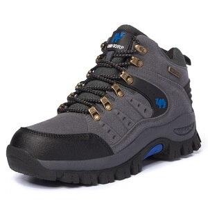 Image 4 - Bota masculina clássica, bota de camurça para caminhada, confortável, para homens