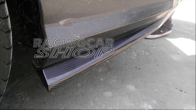 UNPAINTED Rear Bumper Extensions 1pair for Mercedes Benz W204 C63 AMG Side Skirt 2012-2014 M070F 1