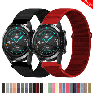 20/22mm Huawei watch GT 2e Strap for samsung galaxy watch 3 active 2 42/46mm Nylon bracelet Samsung Gear s3 frontier accessories